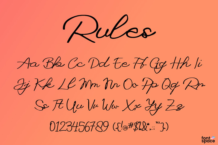 Rules Font poster