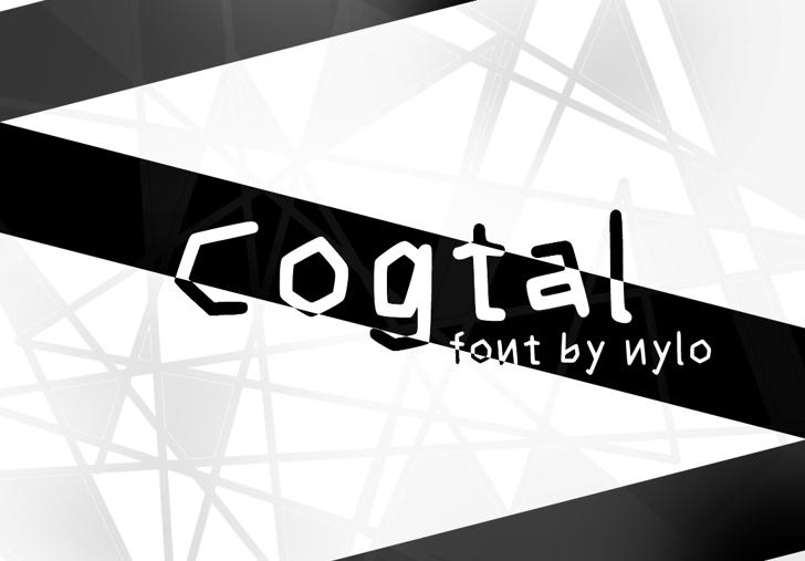 Cogtal Font screenshot design