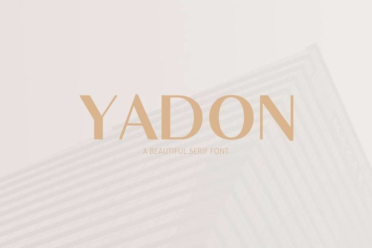 Yadon Font design screenshot