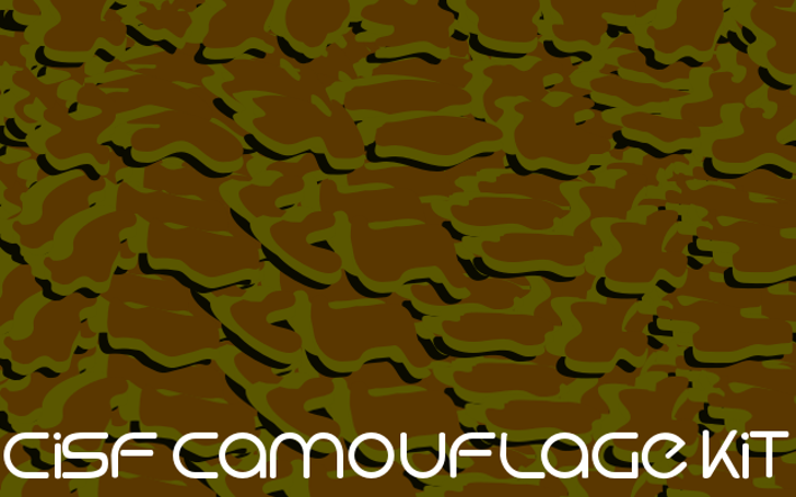 CISF Camouflage Kit Font text