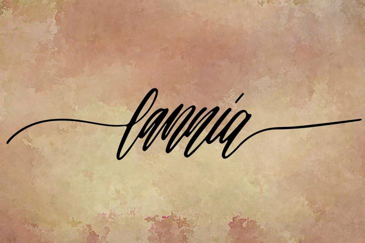 lannia Font poster