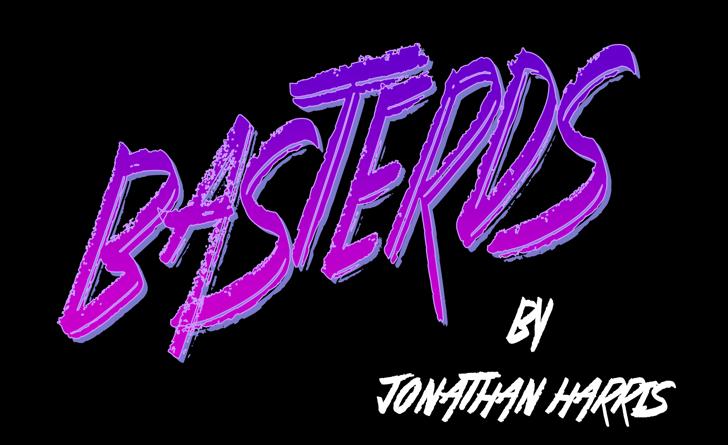 Basterds Font typography design