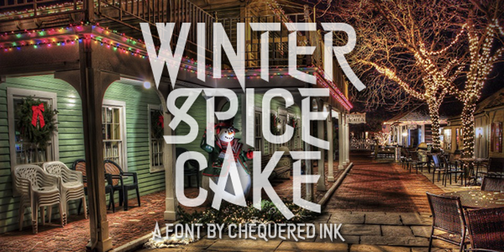 Winter Spice Cake Font poster book
