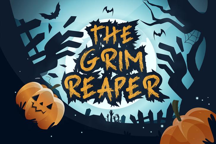 Grim Reaper Font poster