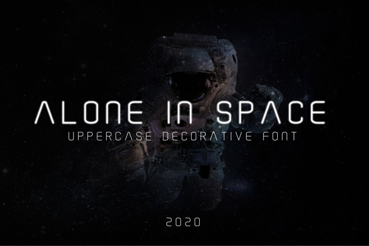 Alone In Space Font poster