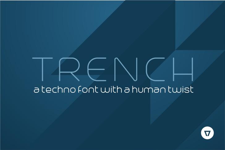 Trench Font screenshot design