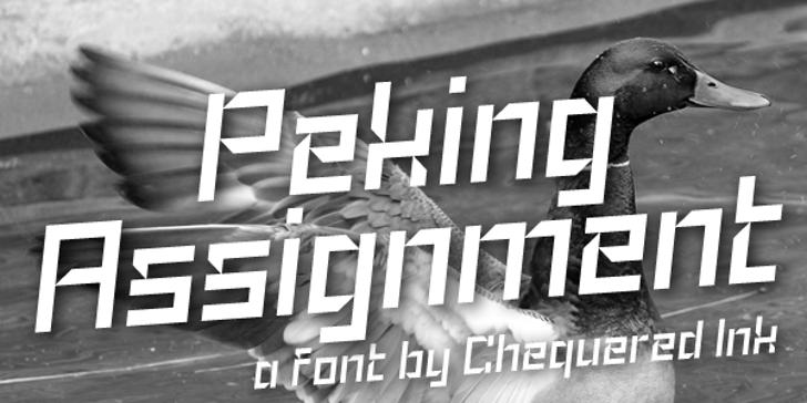 Peking Assignment Font poster outdoor