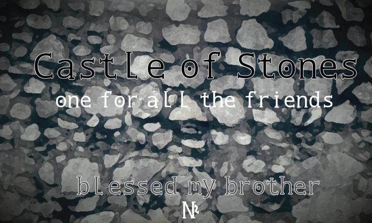 Castle of Stones Font screenshot handwriting
