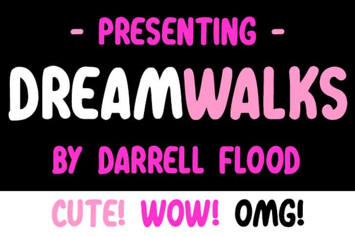 Dreamwalks Font screenshot poster
