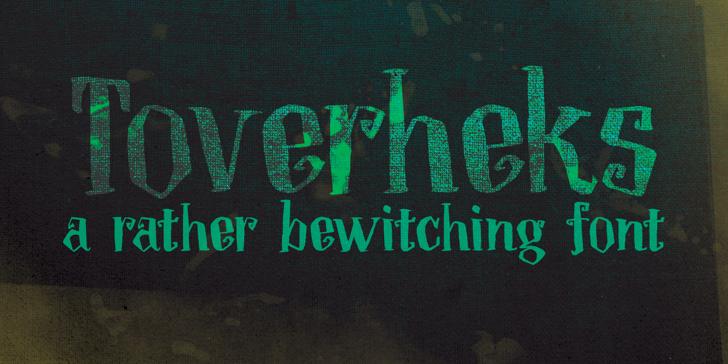 DK Toverheks Font handwriting typography