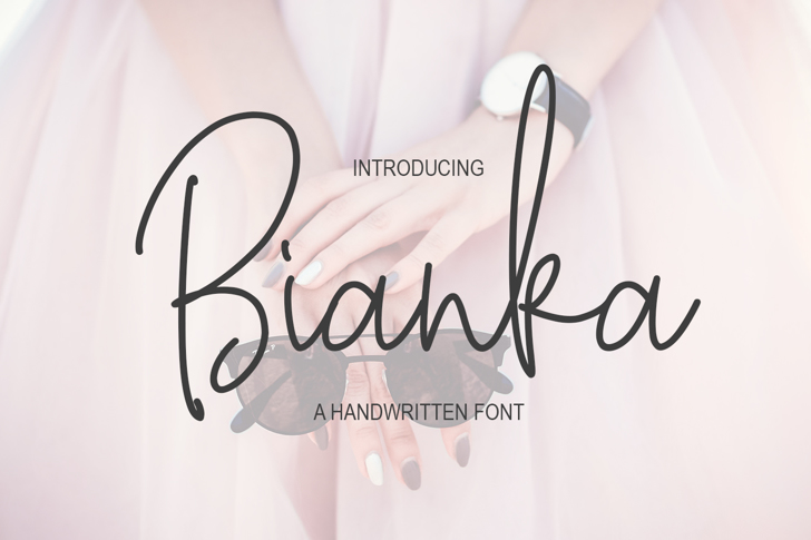 Bianka Script Font poster