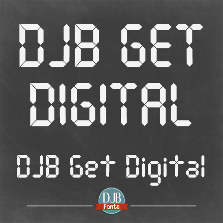 DJB Get Digital Font screenshot poster