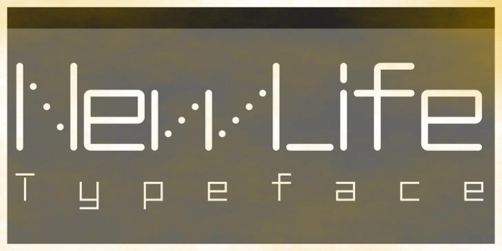 NewLife-Square Font screenshot design