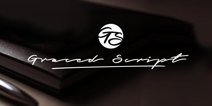 Graced Script PERSONAL USE Font design handwriting