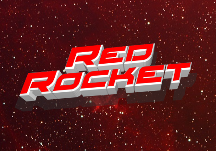 Red Rocket Font outdoor red