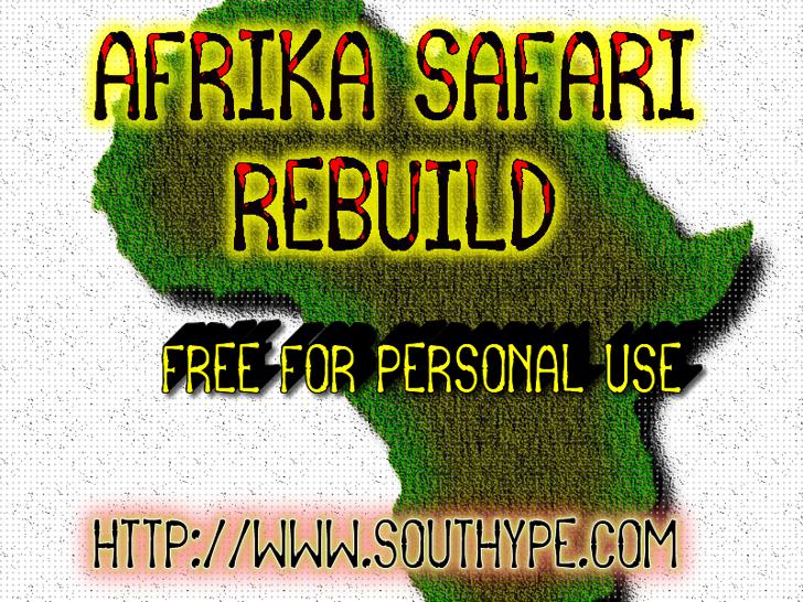 Afrika Safari Rebuild St Font text book