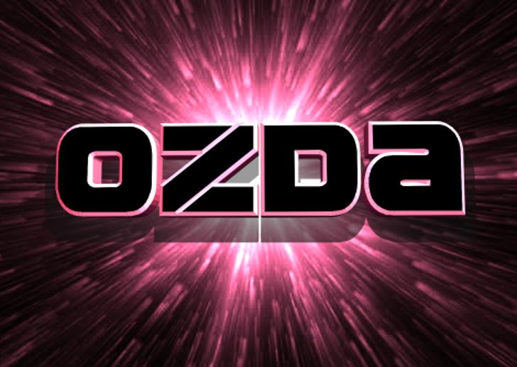 Ozda Font screenshot fireworks