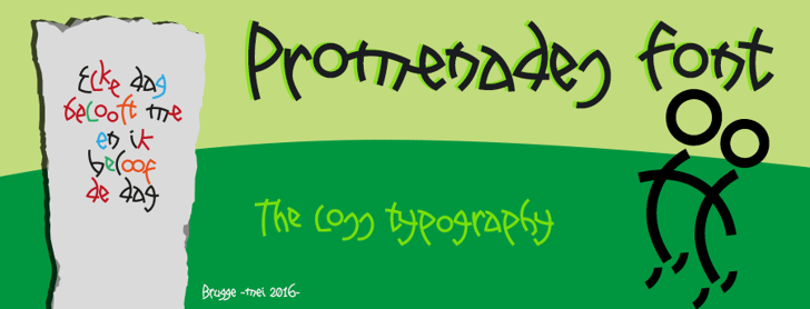 Promenades Font handwriting graphic