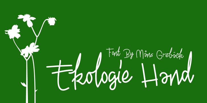 Ekologie Hand PERSONAL USE Font handwriting design