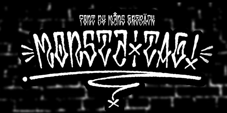 Monsta Tag Personal Font design text