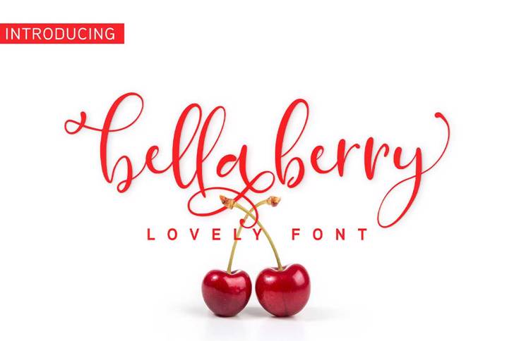 Bellaberry Font poster