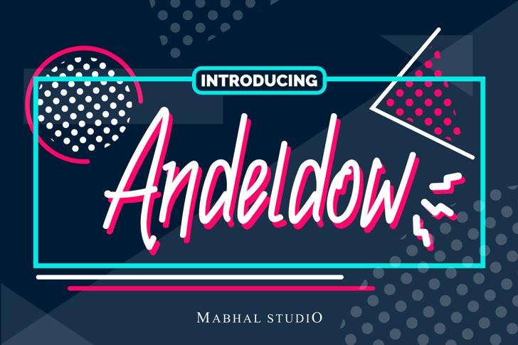 Andeldow Font poster