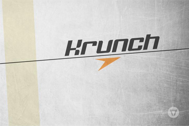 Krunch Font poster