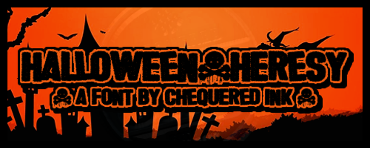 Halloween * Heresy Font poster