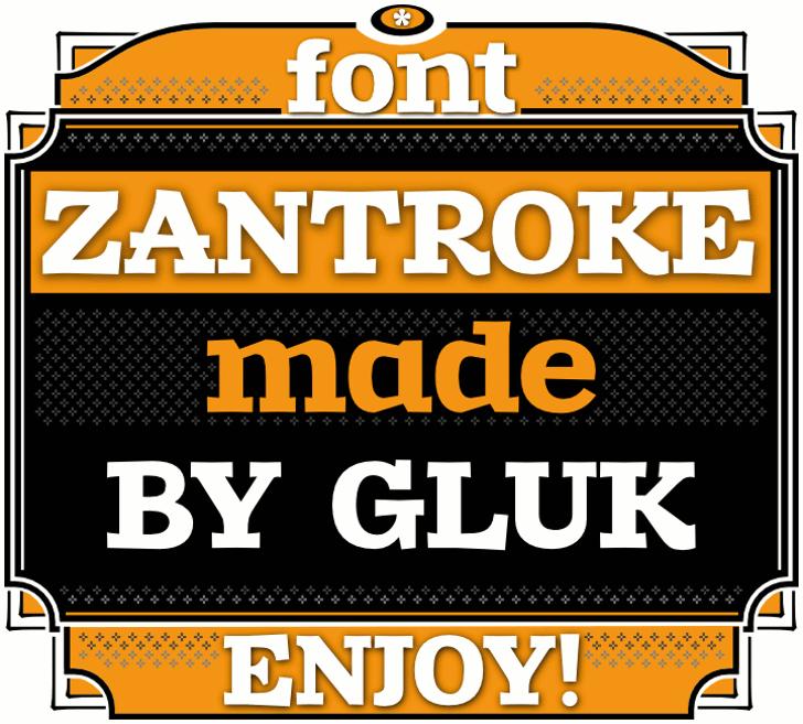 Zantroke Font screenshot text