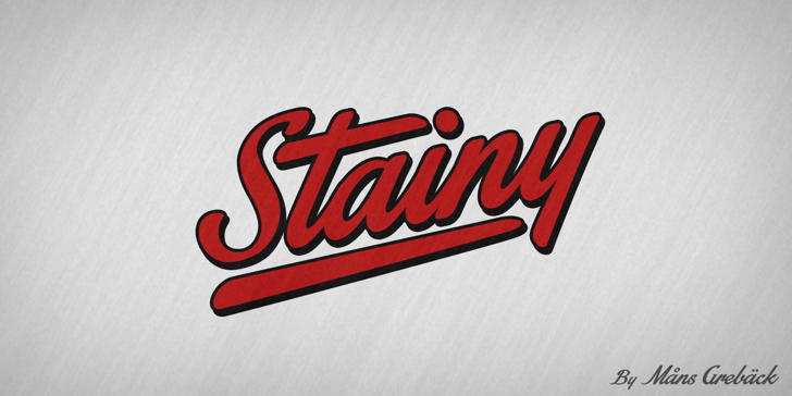 Stainy Personal Use Only Font logo design