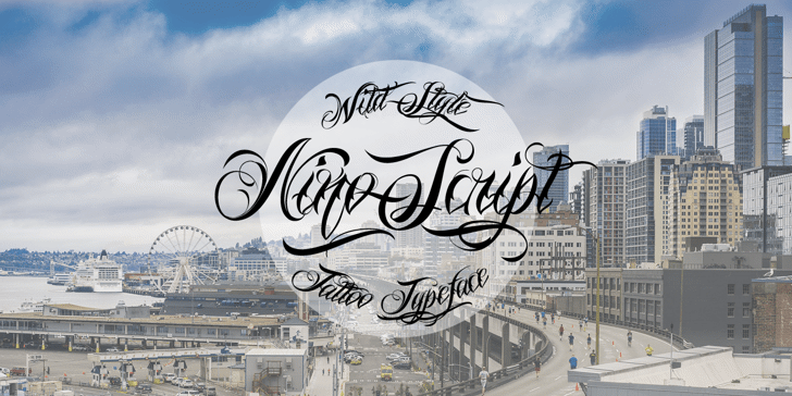 Nino Script PERSONAL USE ONLY Font sky outdoor