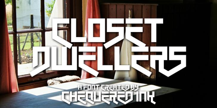 Closet Dwellers Font poster design