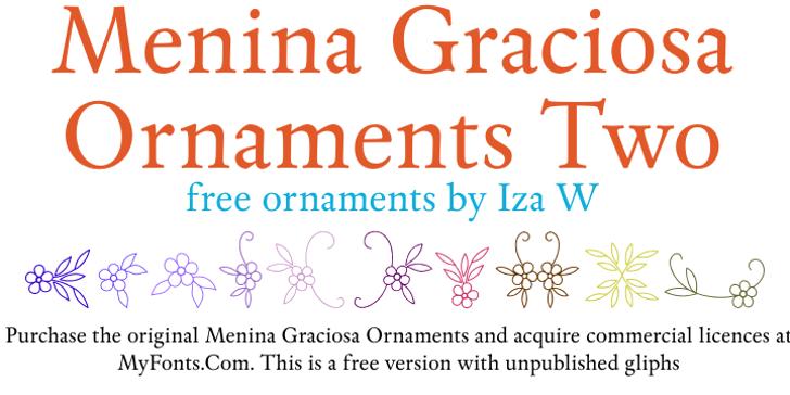 Menina Graciosa Ornaments Two Font design text