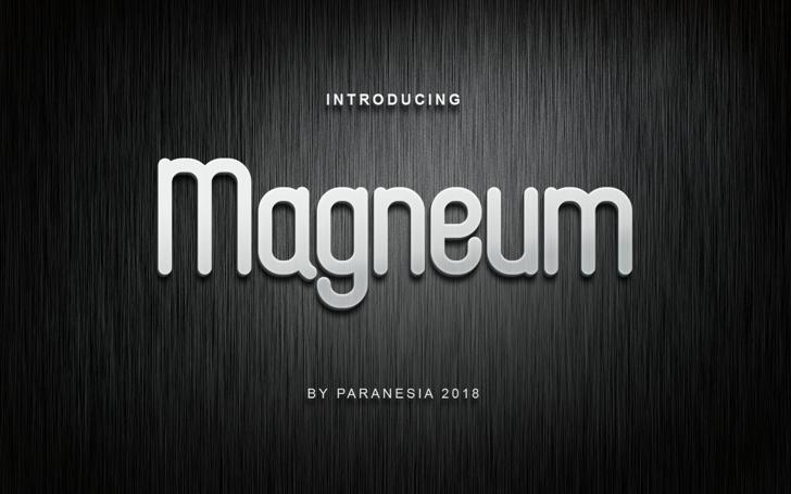 Magneum Font screenshot wooden