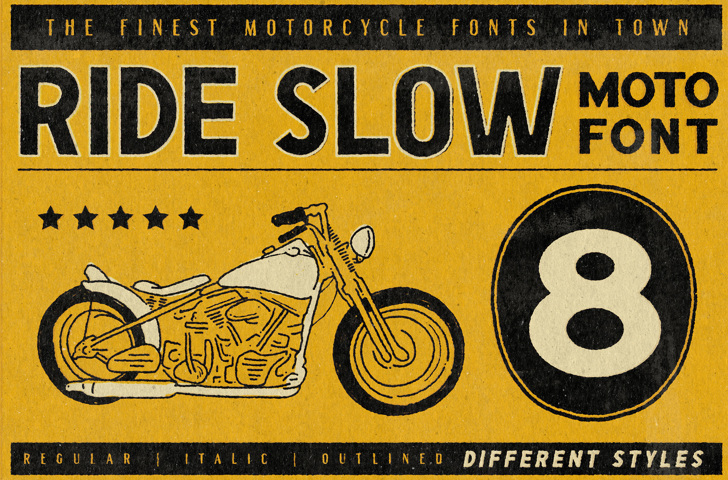 Ride Slow DEMO Font text book