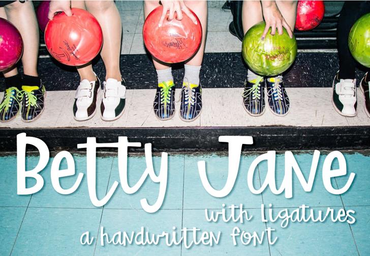 Betty Jane Light Font ball