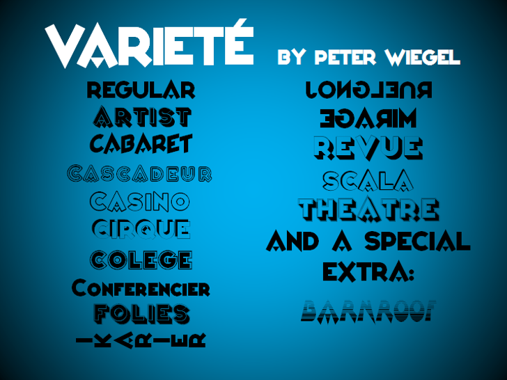 Varieté Font screenshot text