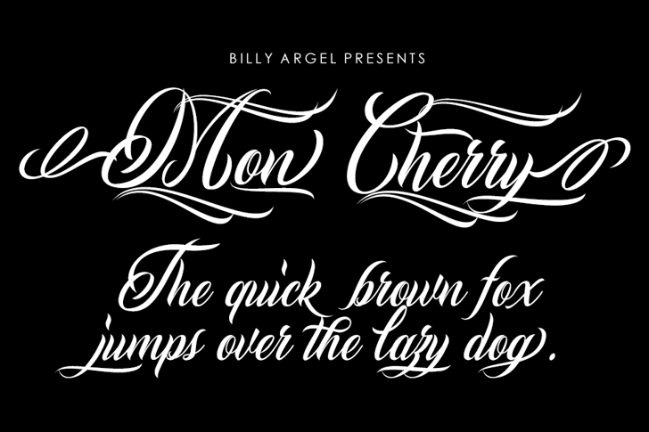 Mon Cherry Personal Use Font handwriting design