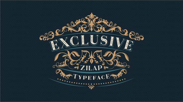 Zilap Exclusive Personal use Font typography design