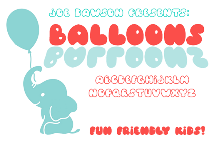 Balloons! Font poster