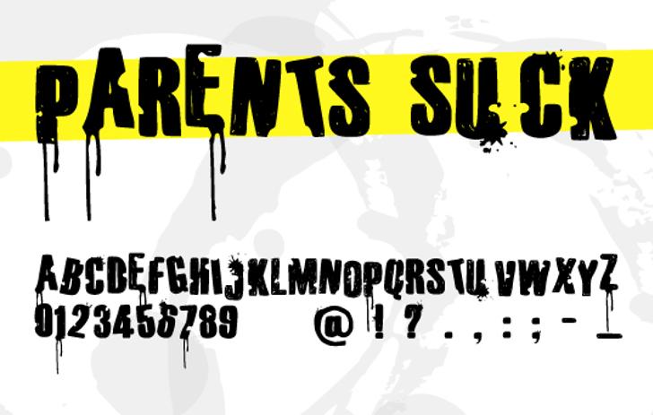 Parents Suck Font poster screenshot