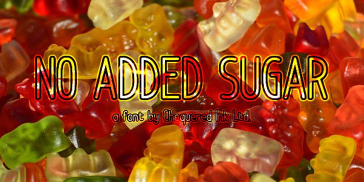 No Added Sugar Font food candy