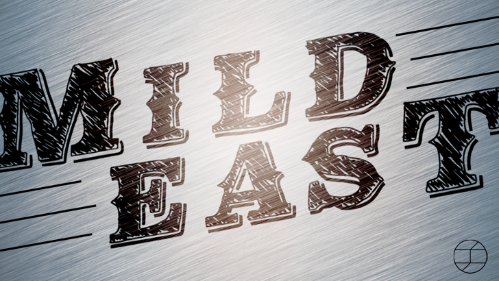 MildEast Font drawing design