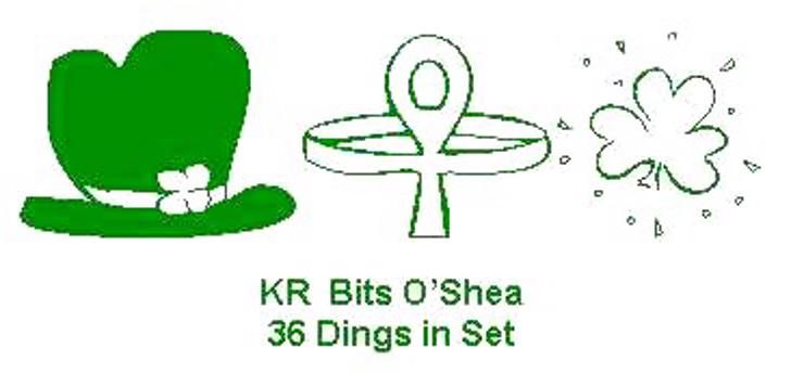 KR Bits O'Shea Font design cartoon