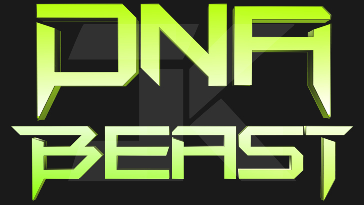 DNA Beast Font cartoon poster