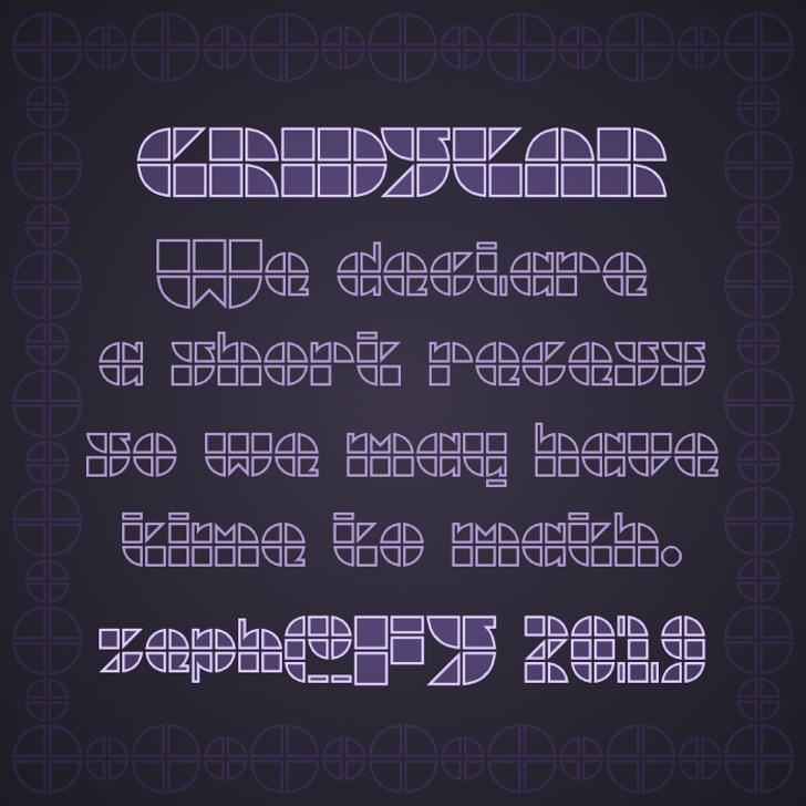 Gridstar Font poster