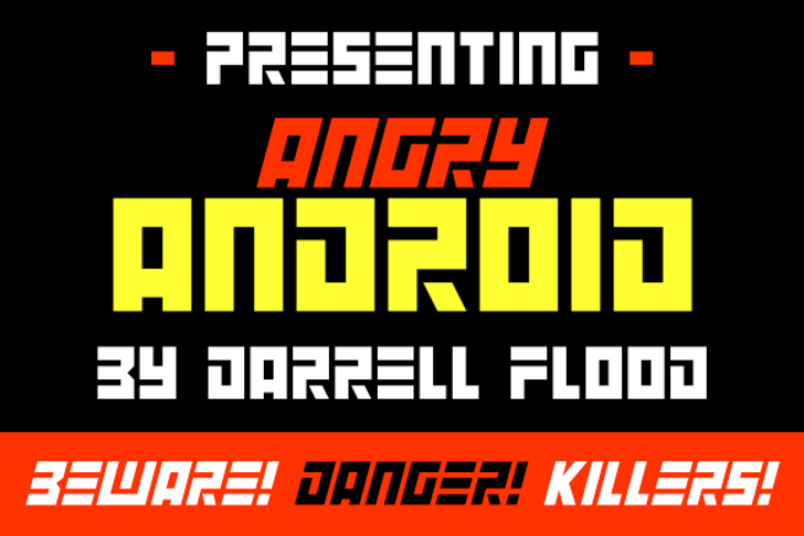 Angry Android Font poster screenshot