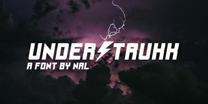 UnderStrukk Font lightning cloud
