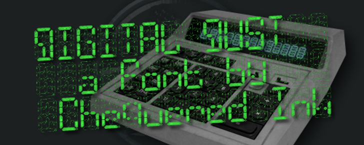 Digital Dust Font screenshot indoor