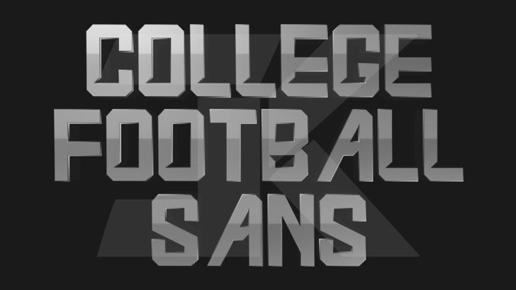 College Football Sans Font poster screenshot